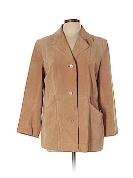 Dialogue Faux Leather Jacket Size L
