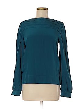 LA Made Long Sleeve Silk Top Size M