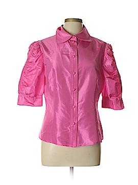 Flores & Flores Short Sleeve Silk Top Size 12