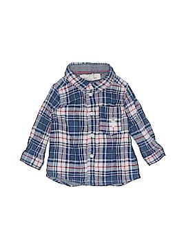 H&M L.O.G.G. Long Sleeve Button-Down Shirt Size 4-6 mo