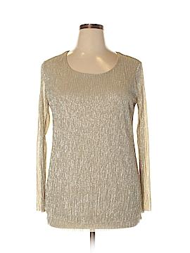 JM Collection Long Sleeve Top Size 1X (Plus)
