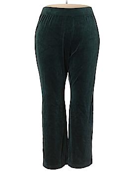Karen Scott Sport Velour Pants Size 1X (Plus)