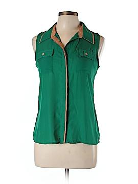 Mine Sleeveless Button-Down Shirt Size M