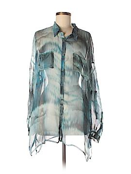 Biya Long Sleeve Silk Top Size M