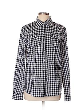 Sandra Ingrish Long Sleeve Button-Down Shirt Size XL