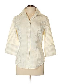 NaraCamicie 3/4 Sleeve Button-Down Shirt Size 10 (IV)