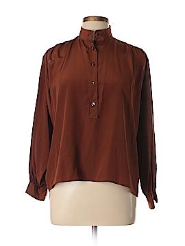 Yves Saint Laurent Rive Gauche Long Sleeve Silk Top Size 2