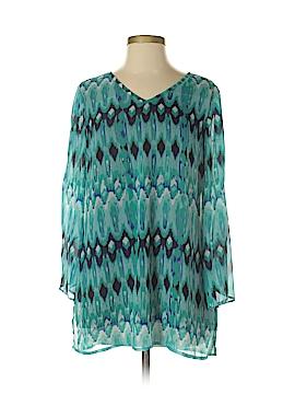 Bleu Bayou 3/4 Sleeve Blouse Size S