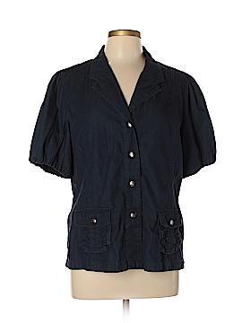 Motto Short Sleeve Button-Down Shirt Size L