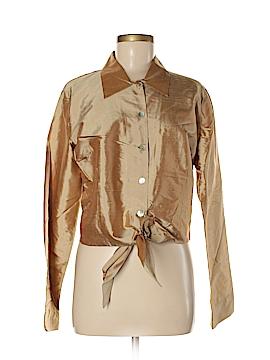 B. Moss Long Sleeve Silk Top Size 14