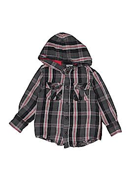 Arizona Jean Company Long Sleeve Button-Down Shirt Size 4 - 5