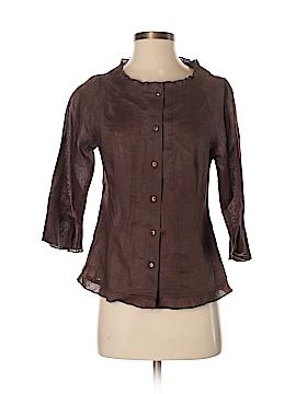 Marina Luna 3/4 Sleeve Button-Down Shirt Size S