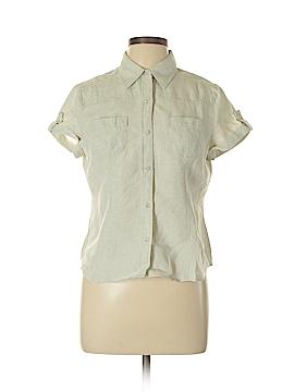 Relativity Short Sleeve Button-Down Shirt Size L (Petite)