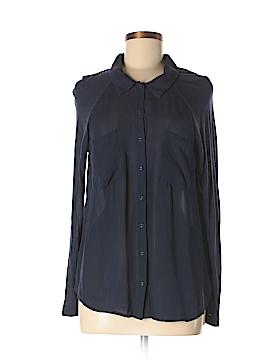 Bella Luxx Long Sleeve Silk Top Size M