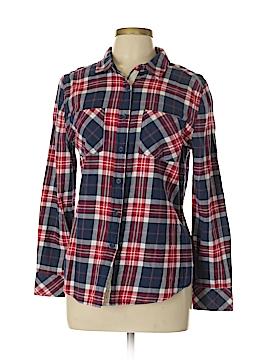 Beach Lunch Lounge 3/4 Sleeve Button-Down Shirt Size M