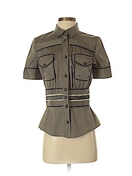 Just Cavalli Short Sleeve Blouse Size 40 (IT)