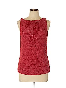 City DKNY Sleeveless Silk Top Size XL