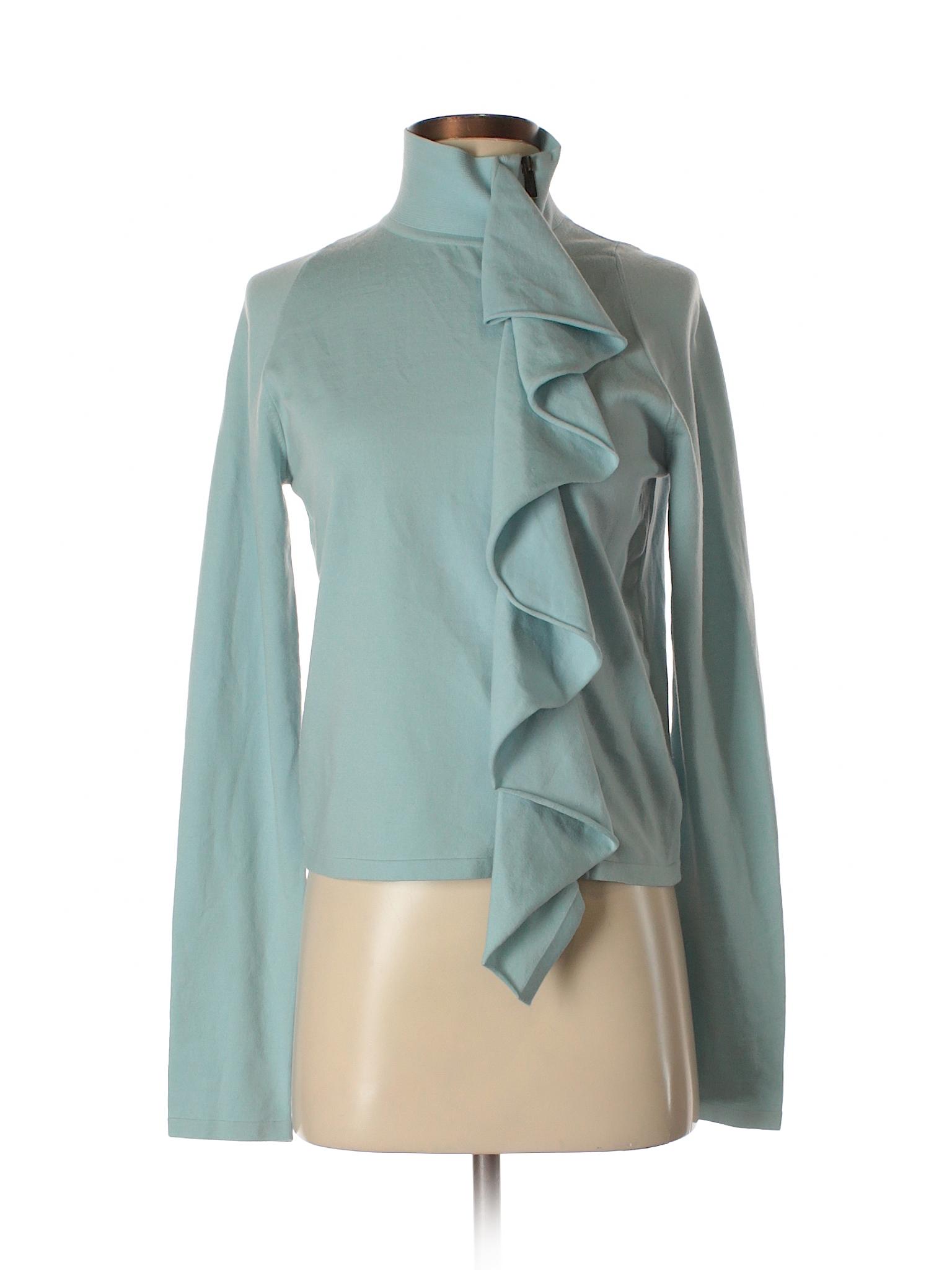 Yves saint laurent rive gauche solid light blue wool for Bureau yves saint laurent