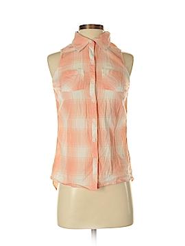 Girl Krazy Sleeveless Button-Down Shirt Size XS