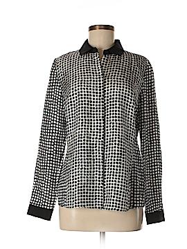 Lafayette 148 New York Long Sleeve Silk Top Size 6