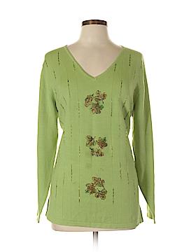 Quacker Factory Silk Pullover Sweater Size L