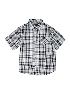 Swiss Cross Short Sleeve Button-Down Shirt Size 18/20