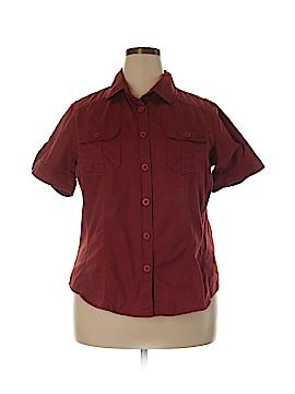 Lee Short Sleeve Button-Down Shirt Size 1X (Plus)