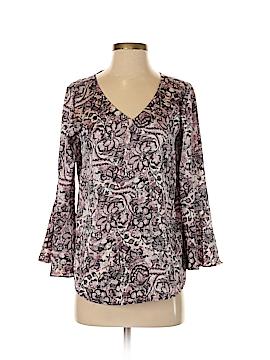 Roz & Ali Long Sleeve Blouse Size XS