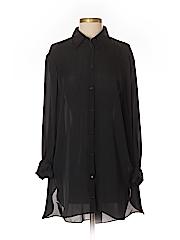 Jarbo Women Long Sleeve Silk Top Size 2
