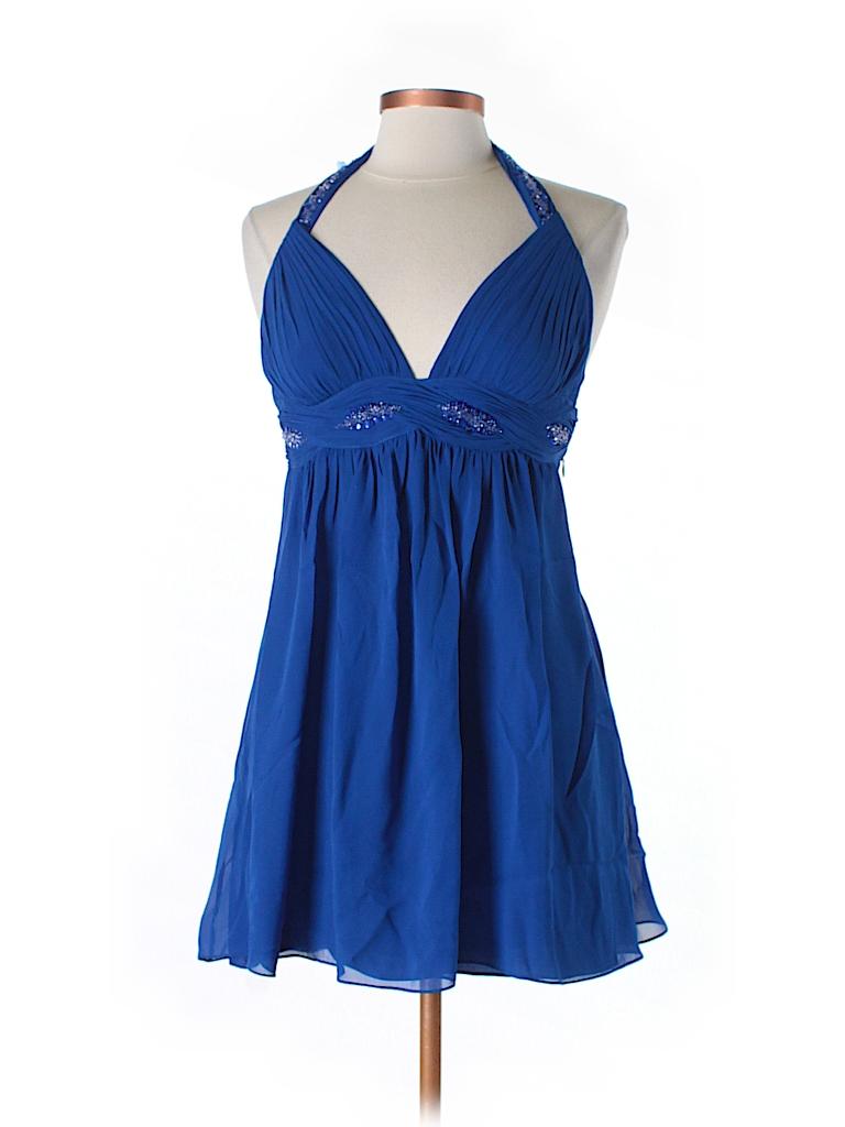 Aidan Mattox Women Silk Dress Size 8