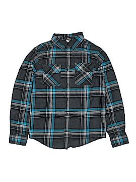 Tony Hawk Long Sleeve Button-Down Shirt Size L (Youth)