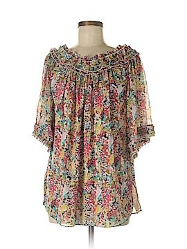 Catherine Malandrino Short Sleeve Blouse Size 6