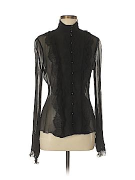 Elie Tahari Long Sleeve Silk Top Size M