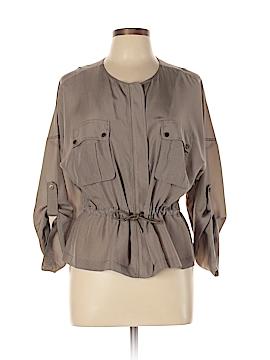Trina Turk 3/4 Sleeve Silk Top Size L