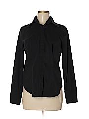 New York & Company Women Long Sleeve Button-Down Shirt Size M