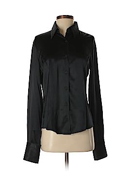 Gianfranco Ferre Long Sleeve Silk Top Size M