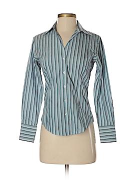 Petite Sophisticate Long Sleeve Button-Down Shirt Size P