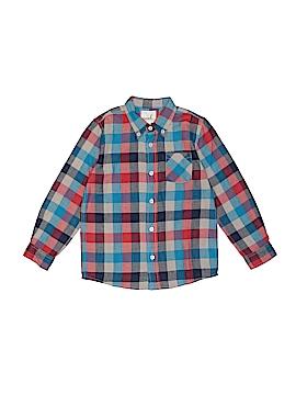 Peek... Long Sleeve Button-Down Shirt Size 6/7