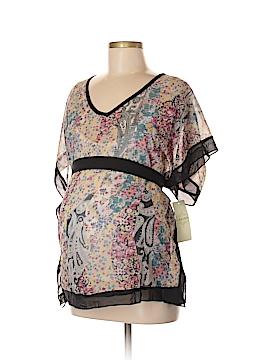Lavish Short Sleeve Blouse Size M (Maternity)