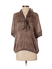 New York & Company Women Short Sleeve Blouse Size S