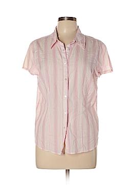 St. John's Bay Short Sleeve Button-Down Shirt Size L