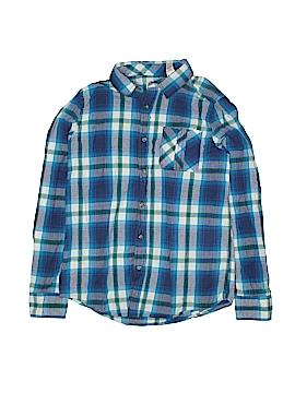 Ruff Hewn Long Sleeve Button-Down Shirt Size 14-16