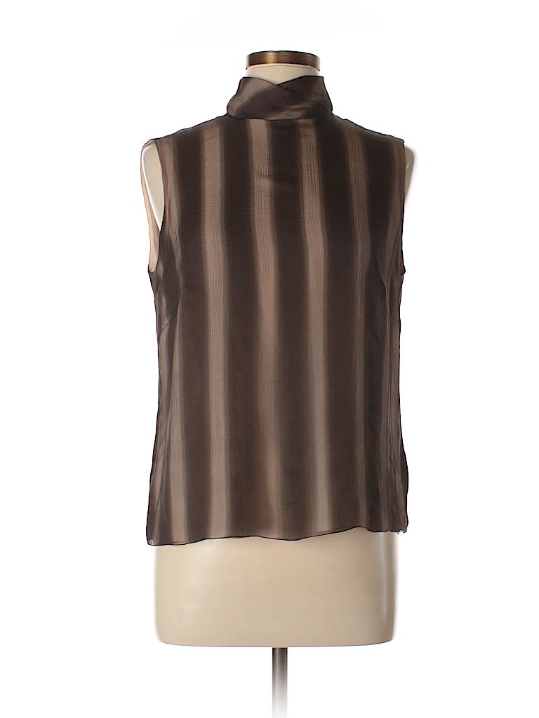 AKRIS Women Sleeveless Silk Top Size 12