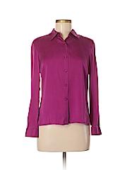 Style&Co Women Long Sleeve Silk Top Size 6 (Petite)