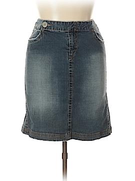 Blue Asphalt Denim Skirt Size 13