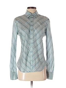 Dosa Long Sleeve Silk Top Size 2