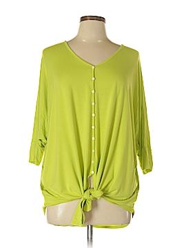 Karen Kane 3/4 Sleeve Button-Down Shirt Size 0X (Plus)