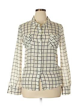 Gemma Long Sleeve Silk Top Size L