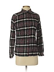 Woolrich Women Long Sleeve Button-Down Shirt Size M