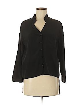 HEATHER Long Sleeve Silk Top Size S